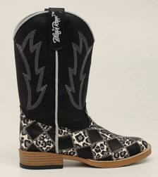 Blazin Roxx Youth Miley Patchwork Square Toe Western Boot - Black