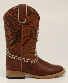 Blazin Roxx Youth Cross Square Toe Western Boot
