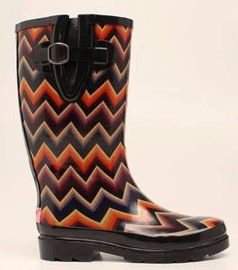 Blazin Roxx Ladies Chandra Chevron Round Toe Rain Boots