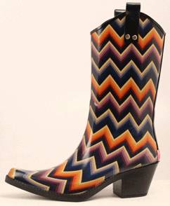 Blazin Roxx Ladies Kale Chevron Snip Toe Rain Boot