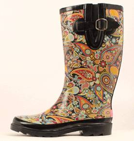 Blazin Roxx Ladies Paisley Round Toe Rain Boot