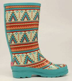 Blazin Roxx Ladies Dakota Southwest Round Toe Rain Boot