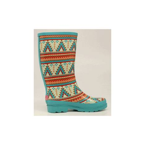 Blazin Roxx Ladies Dakota Southwest Round Toe Rain Boots