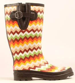Blazin Roxx Ladies Leanne Chevron Round Toe Rain Boot