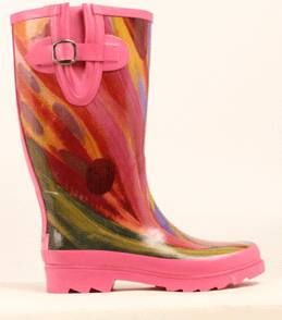 Blazin Roxx Ladies Rose Watercolor Round Toe Rain Boot