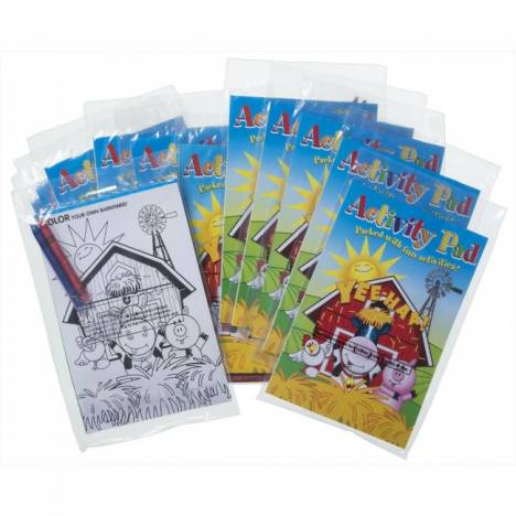 Tough-1 Farm Activity Pad With Crayons - 12 Pack