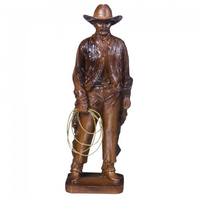 Tough-1 Wooden Cowboy Figurine