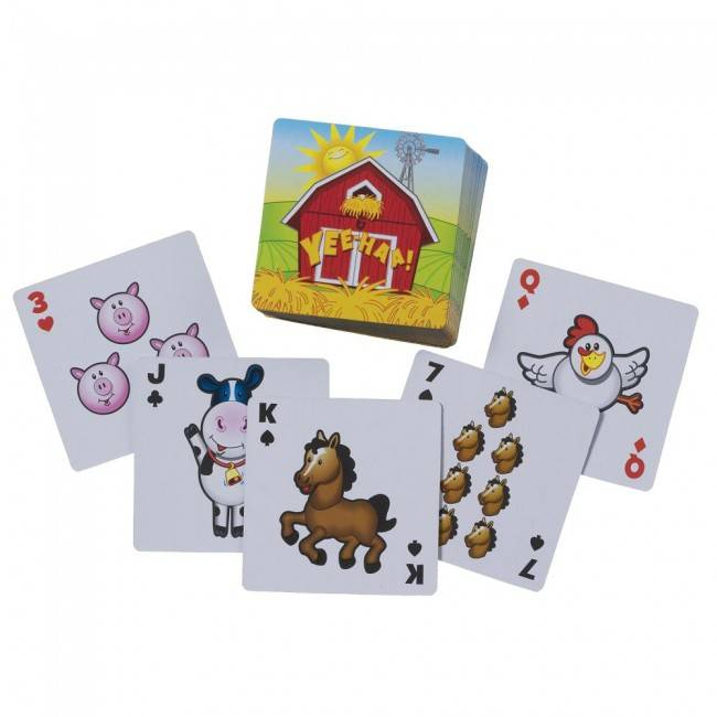 Tough-1 Farm Animal Playing Cards
