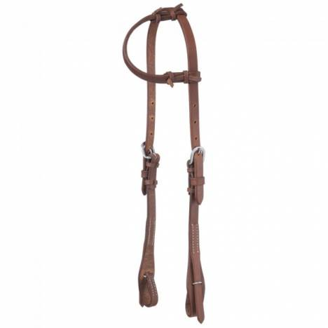 Tough-1 Harness Leather Single Ear Quick Change Headstall