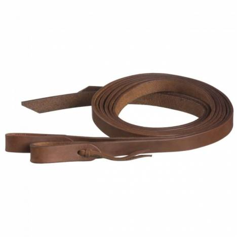 Tough-1 Harness Leather Reins With Waterloop - 1'' X 8'