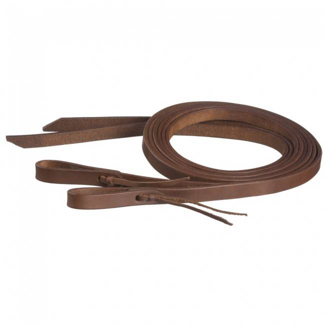 Tough-1 Harness Leather Reins With Waterloop - 3/4'' X 8'