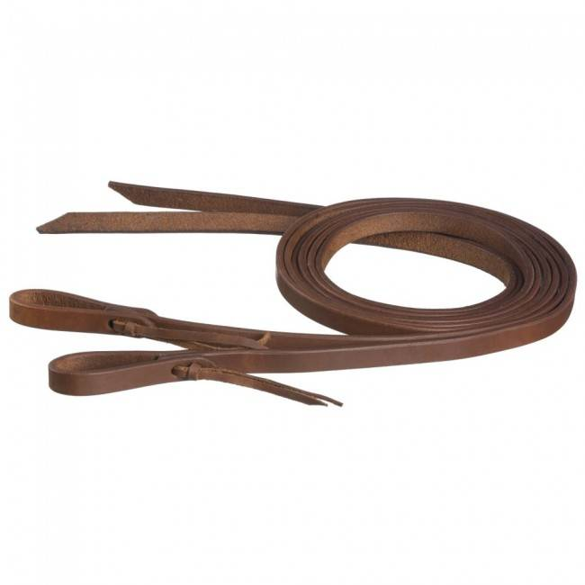 Tough-1 Harness Leather Reins With Waterloop - 5/8'' X 8'