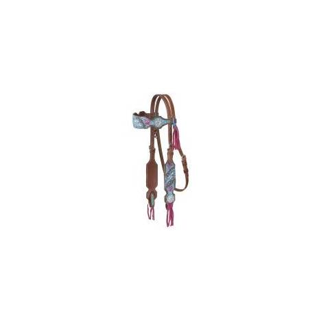 Silver Royal Macaelah Collection Headstall With Fringe