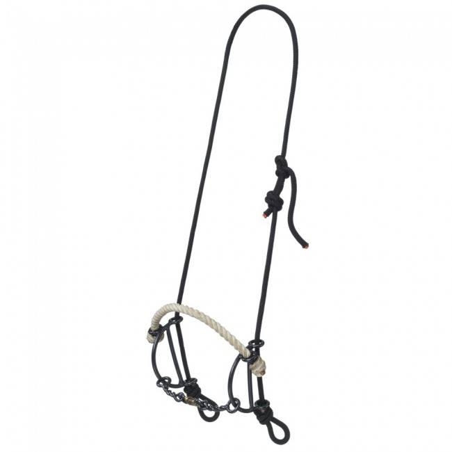 Tough-1 Rope Headstall With Rope Nose/Twisted Dogbone Gag Combo