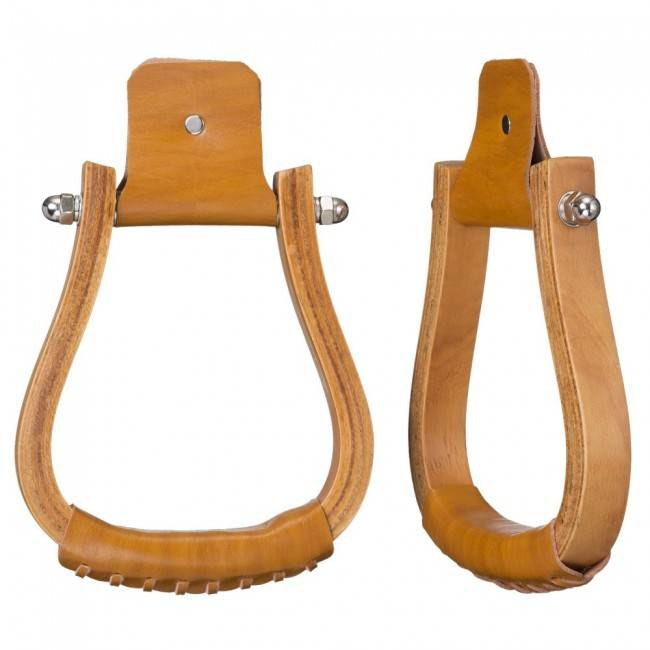 Tough-1 Laminated Wood Visalia Stirrups