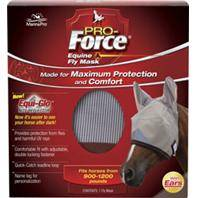 Pro-Force Equine Fly Mask With Ears & Equi-Glo