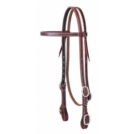 Weaver Working Cowboy Browband Headstall with Buckle Bit Ends