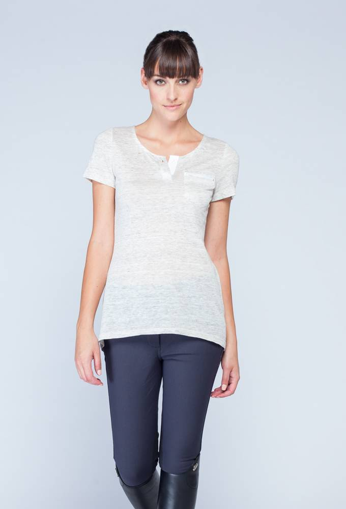 Asmar Ladies Linen Henley