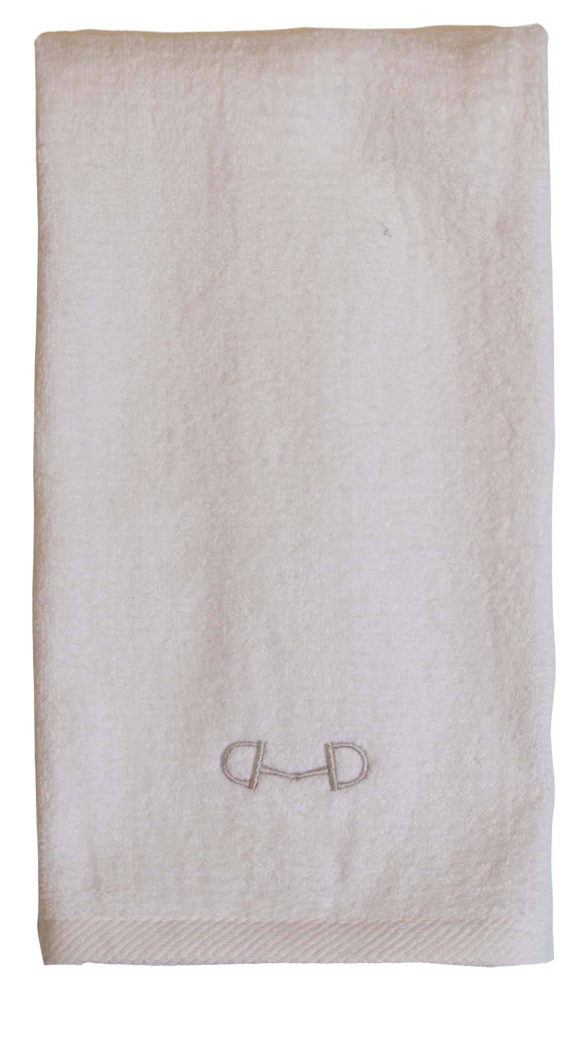 Stirrups D-Ring Bit Terry Velour Hand Towel