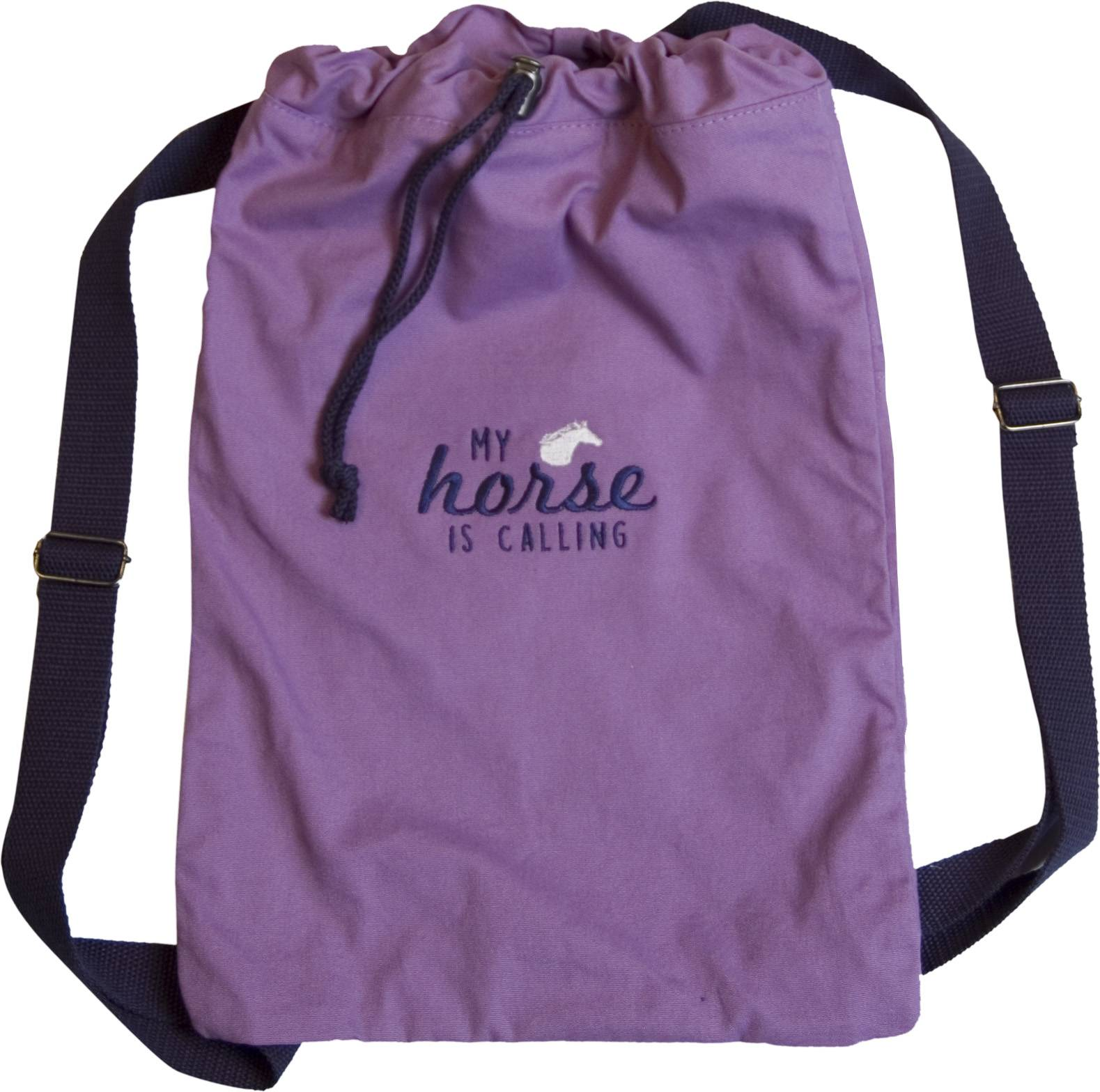 Stirrups My Horse Is Calling Cinch Canvas Backpack