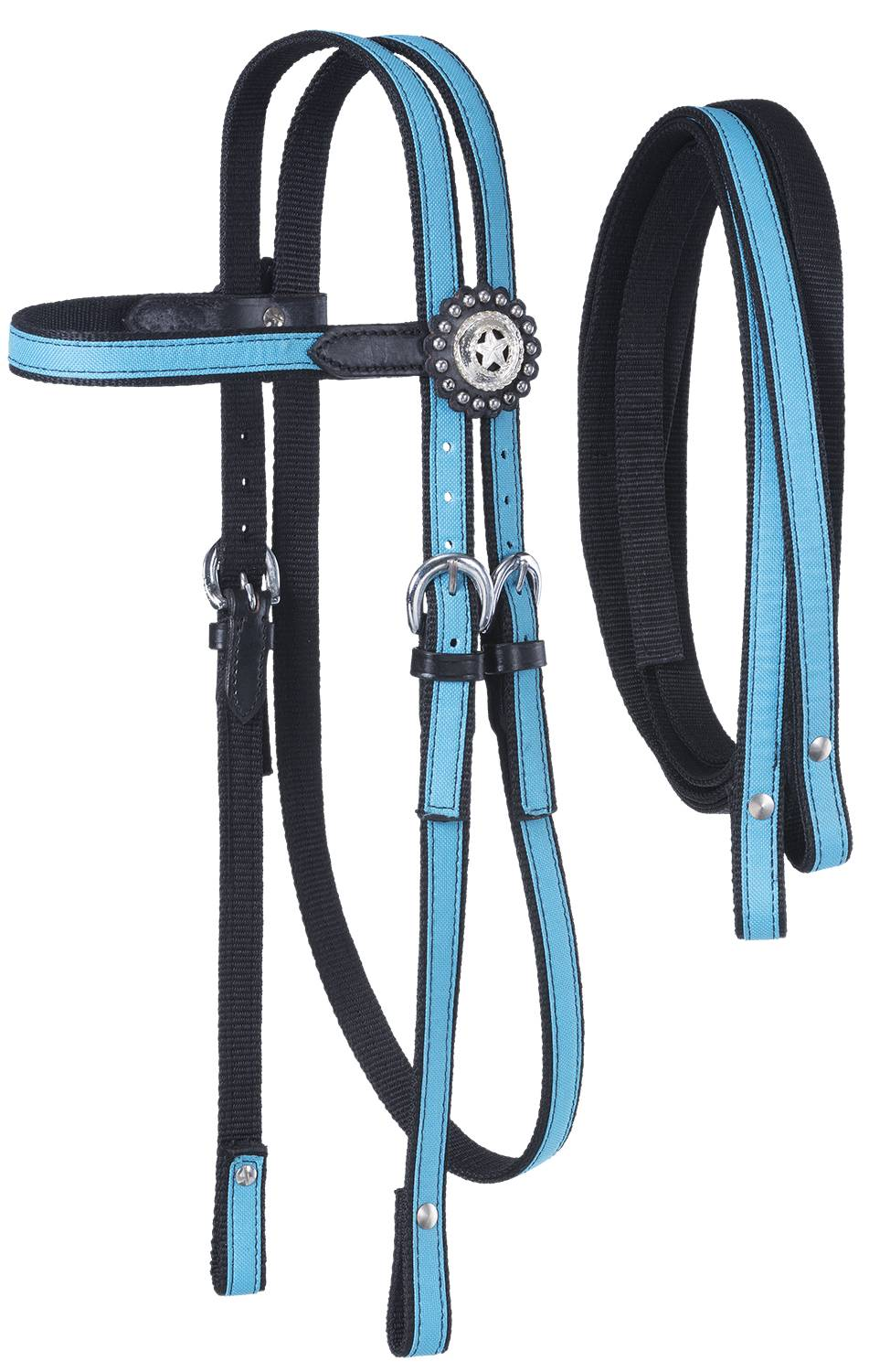 Tough-1 Nylon Headstall w Reins and Fun Prints