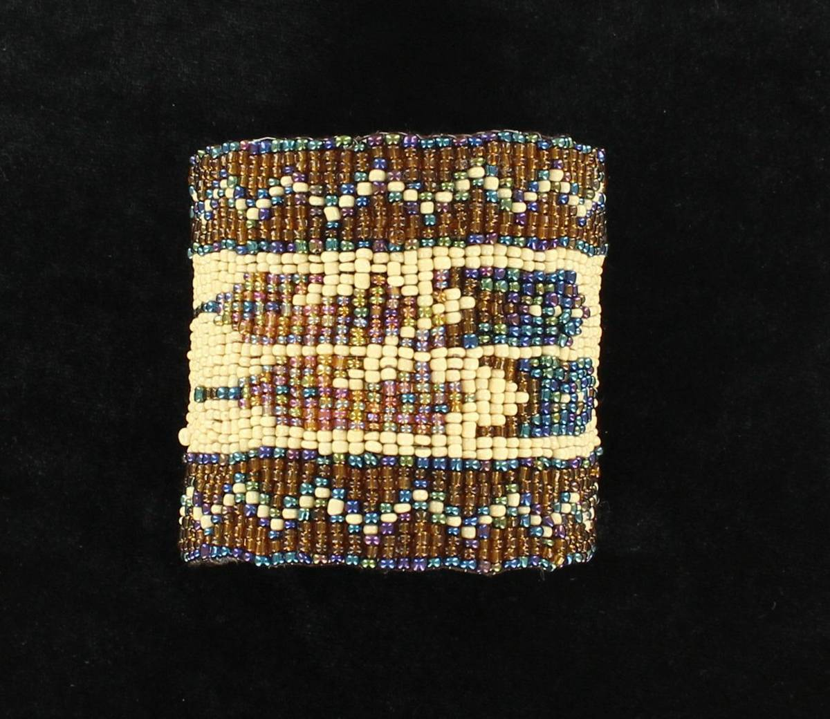 Blazin Roxx Beaded Feather Cuff Bracelet