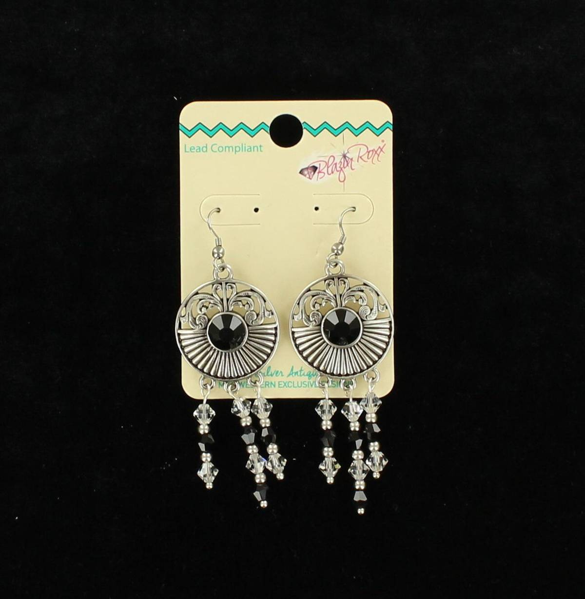 Blazin Roxx Medallion Dangle Earrings