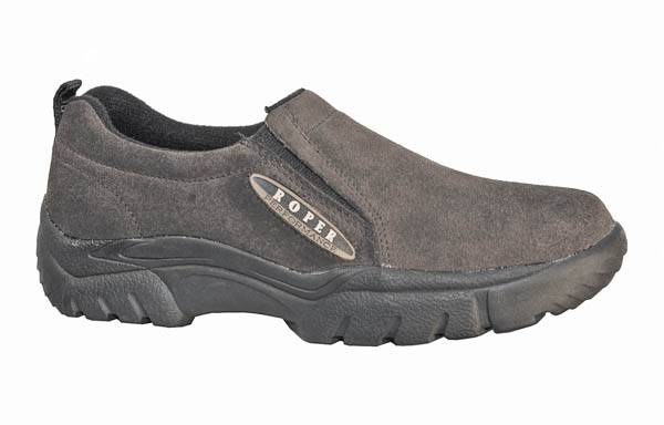 Roper Mens Performance Sport Suede Slip On Shoe