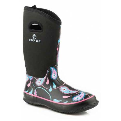 Roper Ladies Paisley Swirl Neoprene Tall Barn Boots