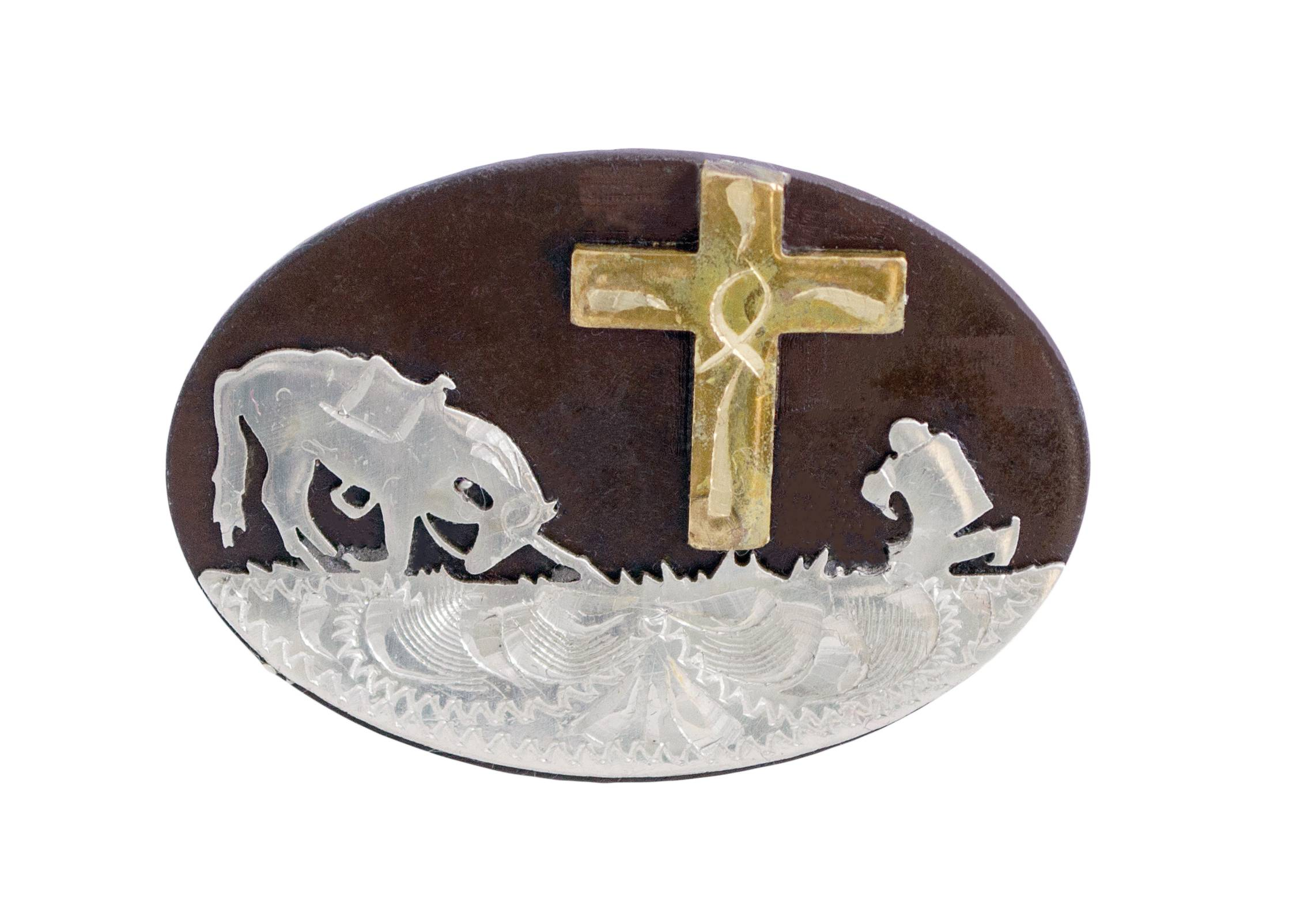 Partrade Cowboy & Cross Drawer Pull Concho