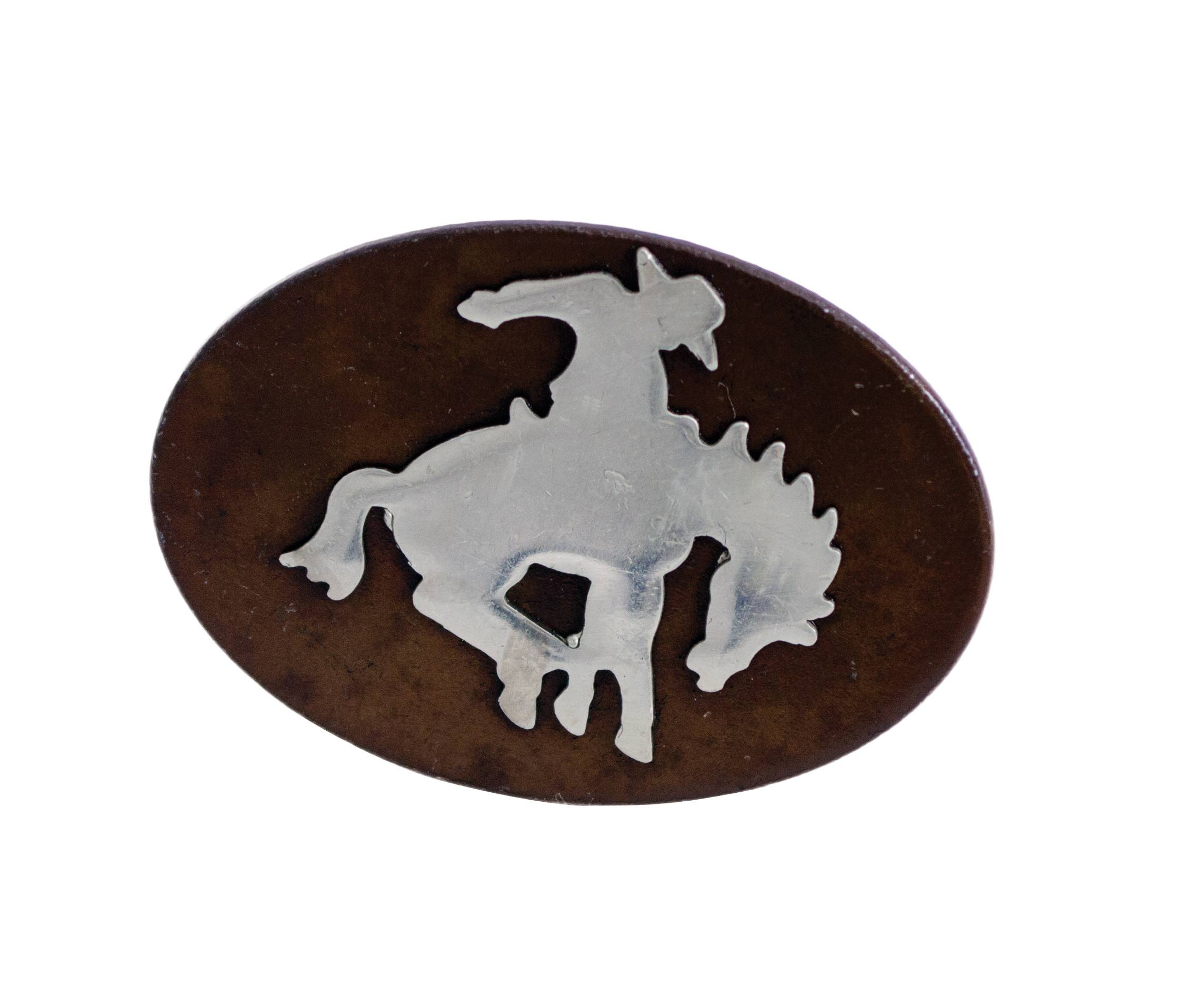 Partrade Bronco & Cowboy Drawer Pull Concho