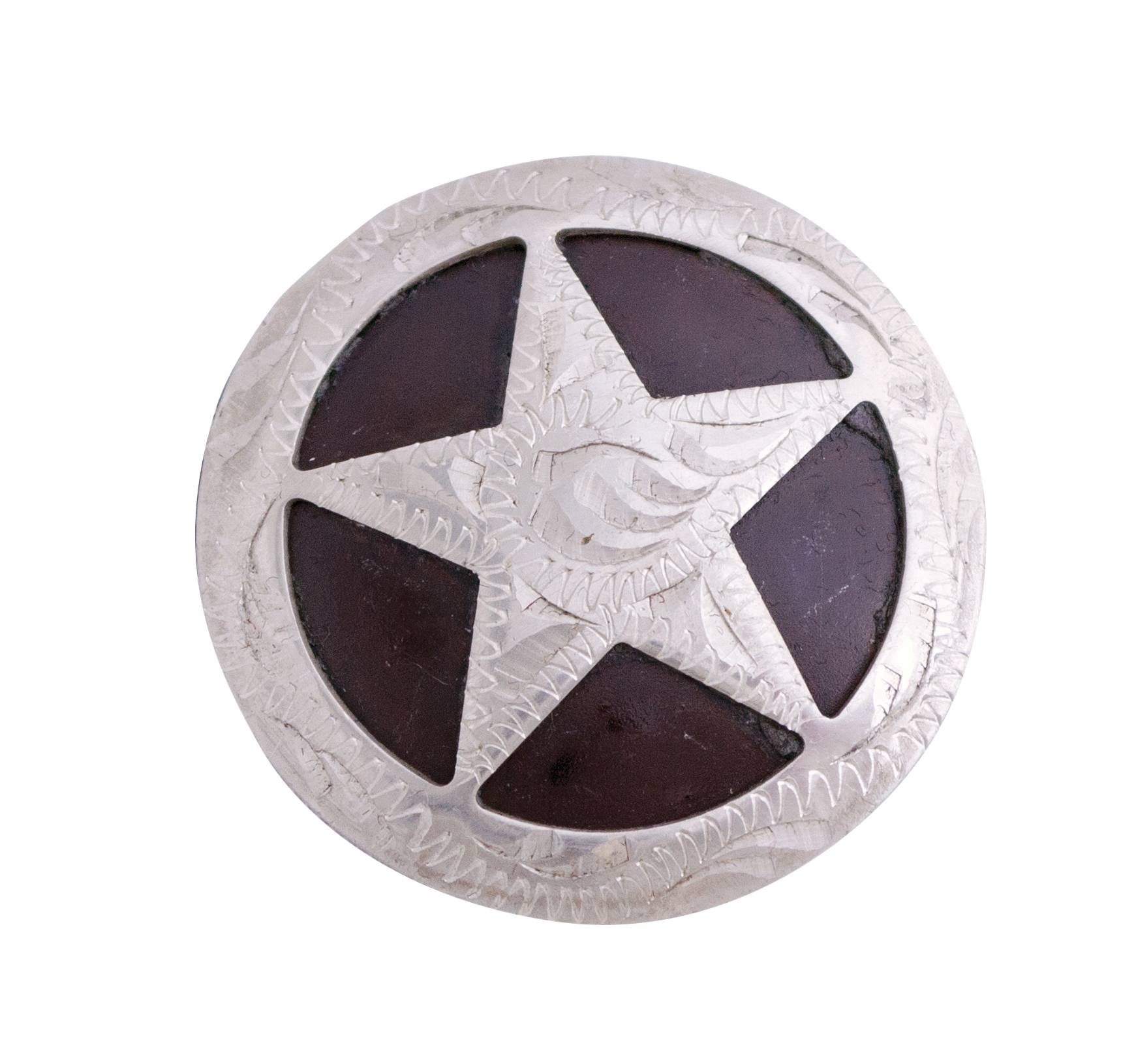 Partrade Round Star Badge Drawer Pull Concho