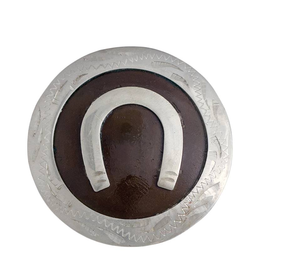 Partrade Round Horse Shoe Drawer Pull Concho