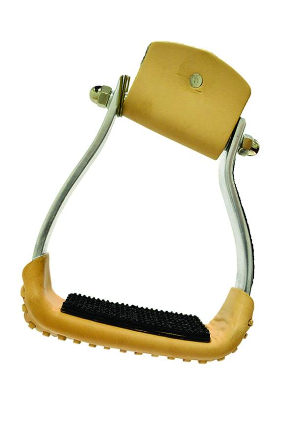 Slanted Aluminim Stirrup with Rubber Pad