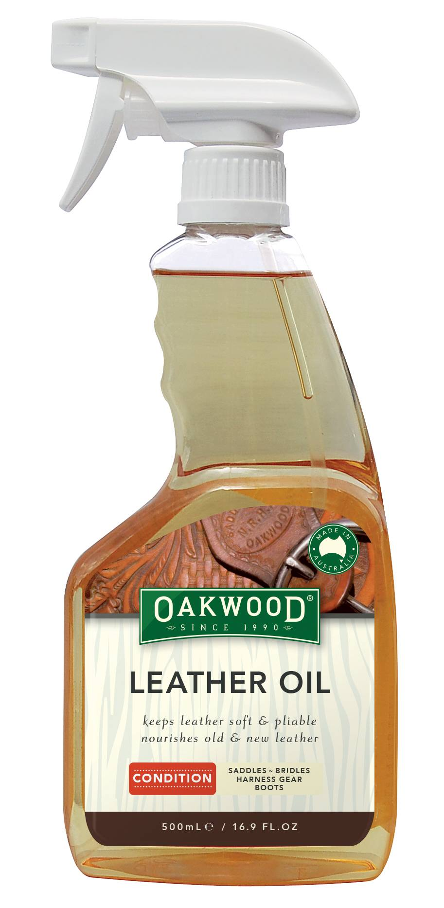 Nunn Finer Oakwood Leather Oil Bottle