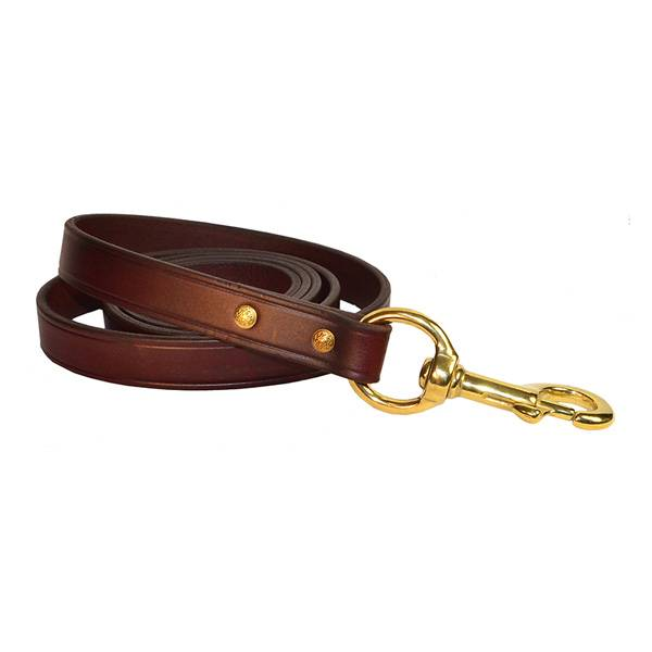 Perri's Dual Leather Lead with Brass Snap
