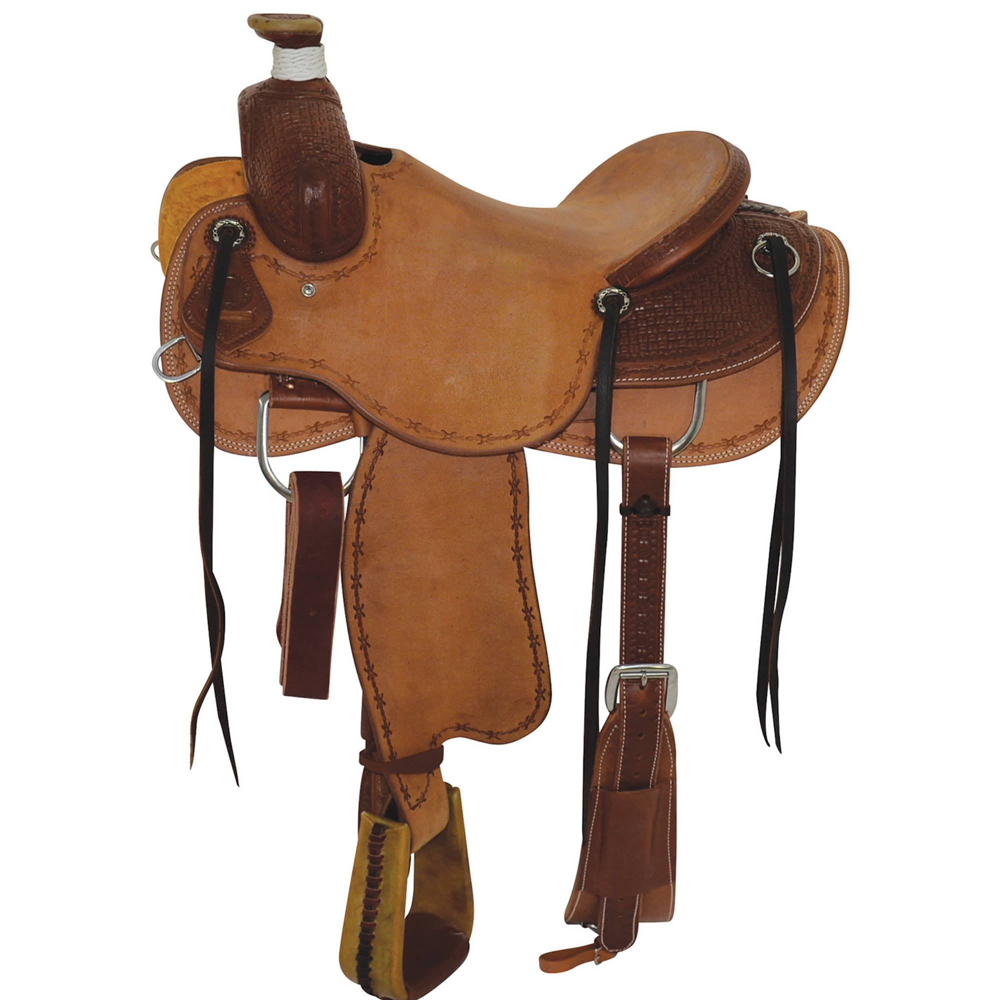 Circle Y Select Box Stamp Rancher Saddle