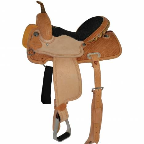 Circle Y Select Spider Stamp Barrel Saddle