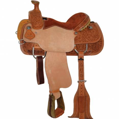 Circle Y Wyoming Flower Roper Saddle