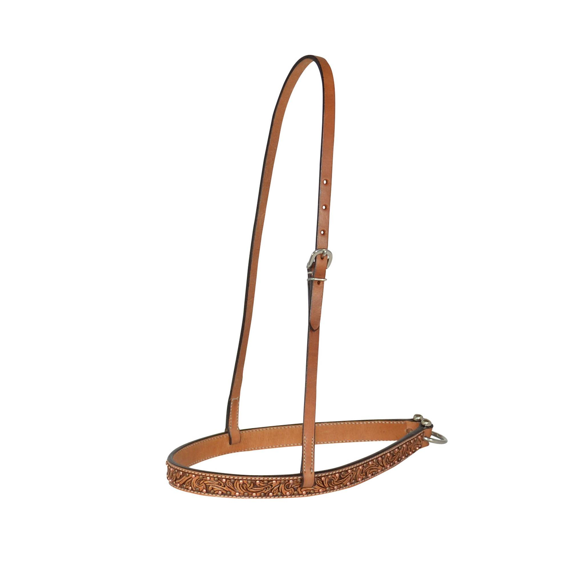 Circle Y Floral Copper Spot Noseband