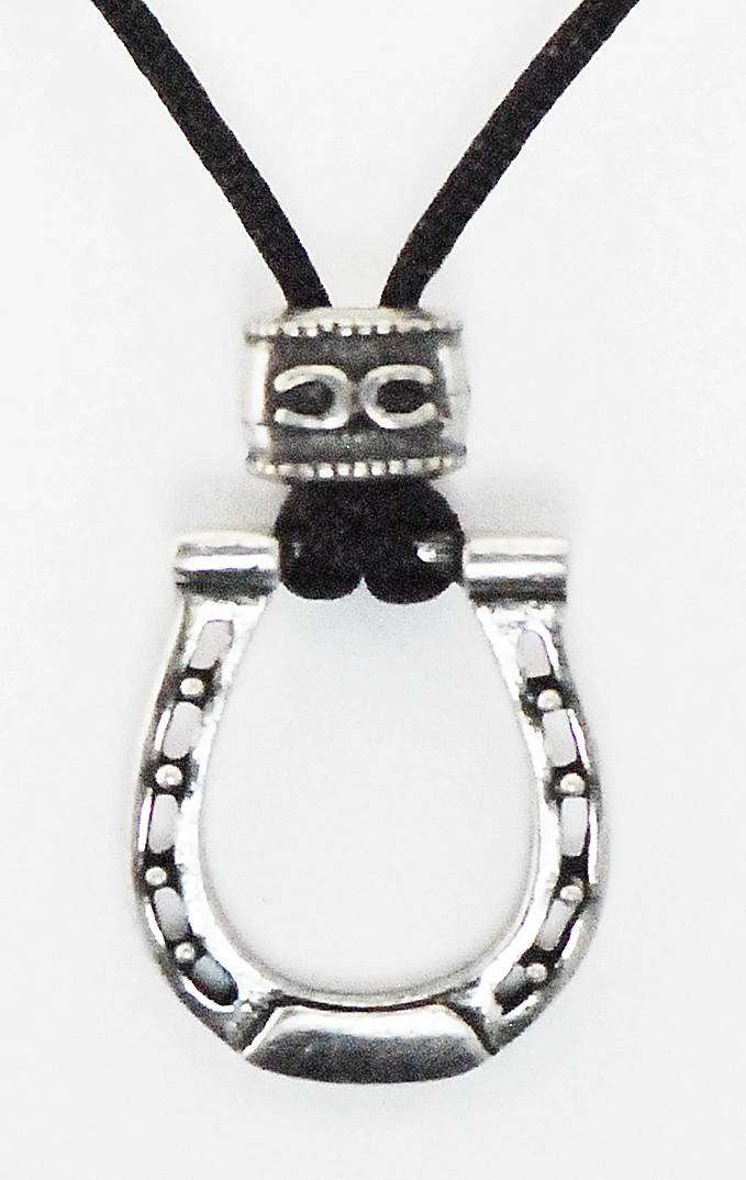 Barbary Horse Shoe On Cord Necklace