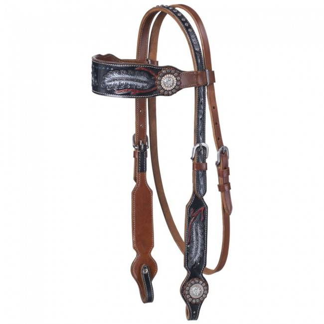 Silver Royal Zane Collection Browband Headstall