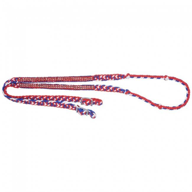Tough-1 Knotted Competition Reins With Crystal Accents