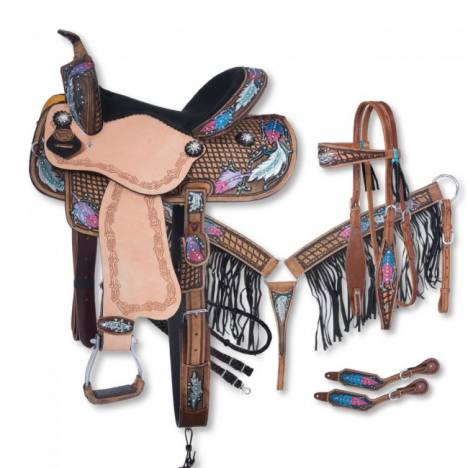 Silver Royal Delilah Collection 5 Piece Saddle Package