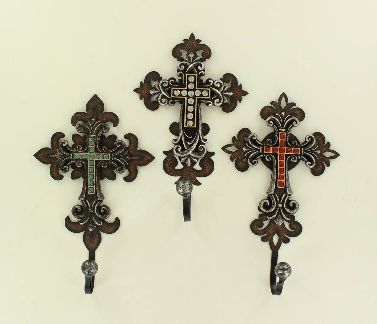 Cross Hook Set Wall Dcor - 3 Piece