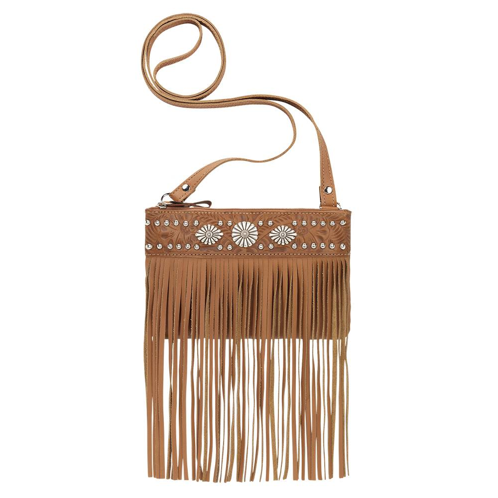 American West Saratoga Fringe Crossbody Bag