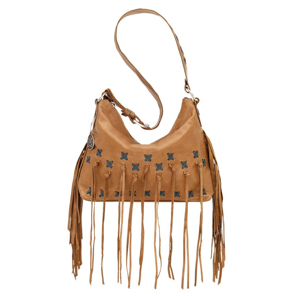 American West River Ranch Slouch Zip Top Shoulder Bag