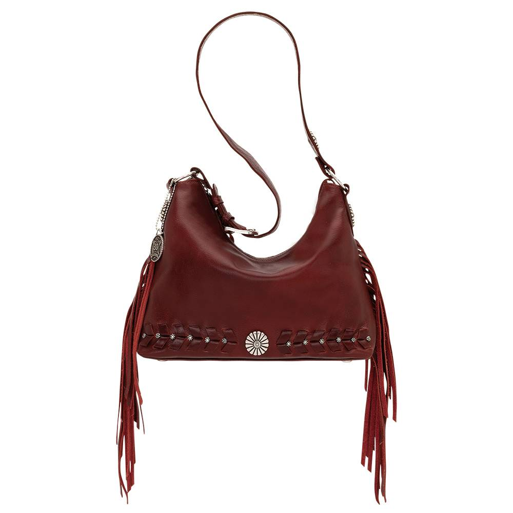 American West Slouch Zip Top River Ranch Shoulder Bag
