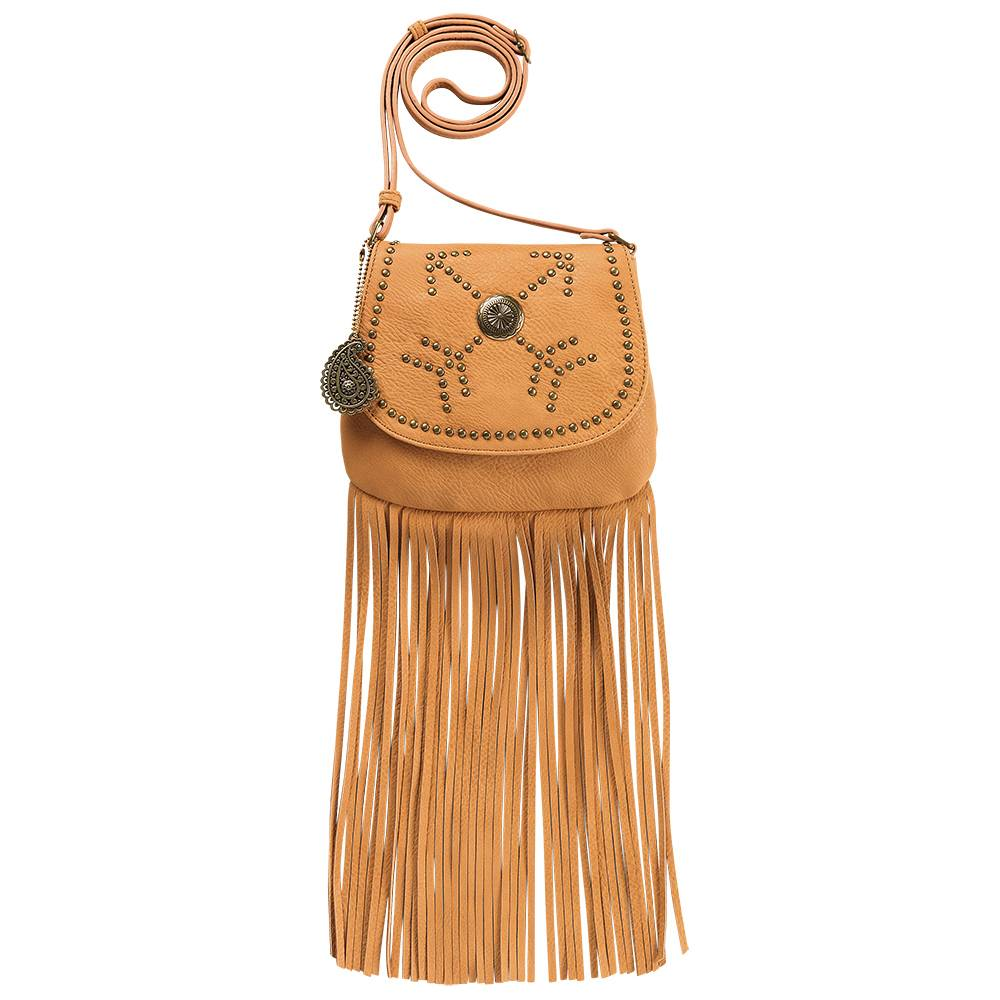 Bandana Austin Fringe Flap Bag With Wallet