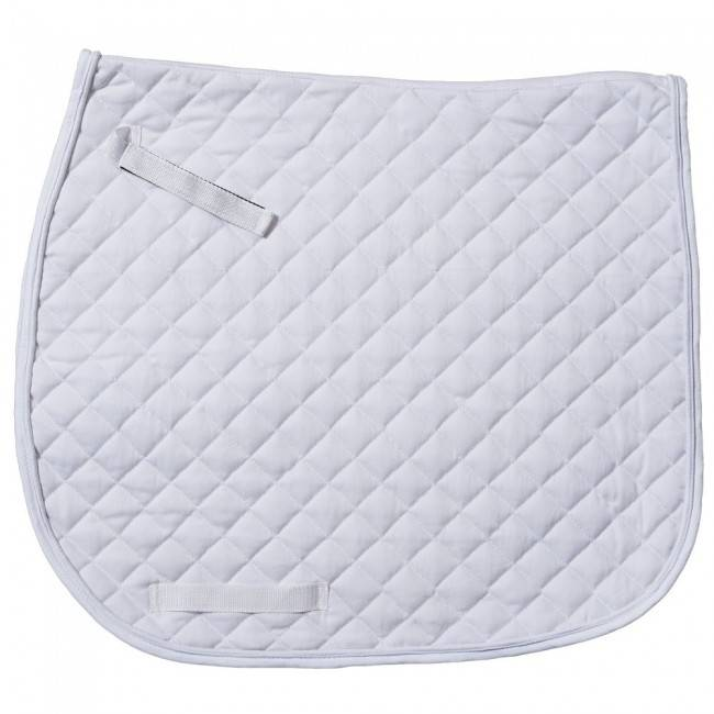Tough-1 AP Quilted Dressage Saddle Pad- White